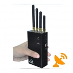 Handheld Mobile Phone Jammer Wifi Blocker with Cooling Fan