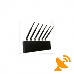 Desktop Cell Phone + GPS + Wifi Jammer Blocker 6 Antennas