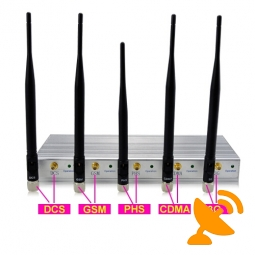 3G GSM CDMA DCS PHS Cellphone Jammer with Remote Control