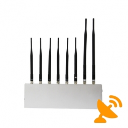 8 Antenna High Power Jammer Cell Phone + VHF + UHF + Wifi + GPS Jammer