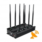 8 Band Cell Phone Signal Jammer Terminator for Mobile Phone, WiFi Bluetooth, UHF, VHF, GPS, LoJack