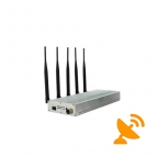 Desktop Mobile Phone Jammer + UHF Audio Jammer 5 Band