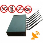 6 Antenna High Power Adjustable Cellphone Jammer Wifi GPS Jammer